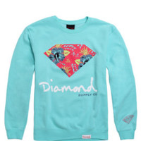 Diamond Supply Co Floral Script Crew Fleece at PacSun.com