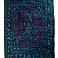 10x12 Overdyed Persian Mashad Floral Wine Teal Rug woh-2649