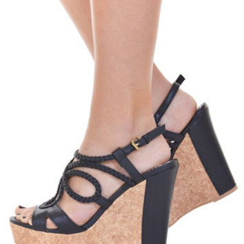 Closet Candy Boutique · A Walk In The Clouds Wedges - Black