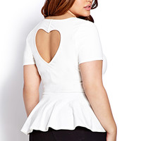 Sweetheart Peplum Top