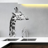 Black And White Giraffe Wall Sticker