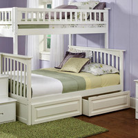 Ogden White Twin over Full Stairway Bed