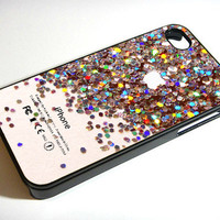 Apple Logo Sparkle Glitter - Print on iPhone 4/4s Case - iPhone 5 Case - Samsung Galaxy S3 - Samsung Galaxy S4