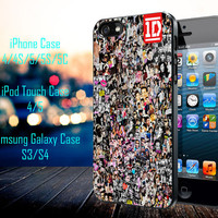One Direction Collage Art Samsung Galaxy S3/ S4 case, iPhone 4/4S / 5/ 5s/ 5c case, iPod Touch 4 / 5 case