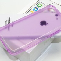 DIGIWAVES U.S.A. - (LIGHT PURPLE) The Gel Jelly Candy Colour Protective TPU Clear Transparent Glossy Smooth Back Cover Unique Case For iPhone 5C Scratch-Resistant Slim Light Weight Case, (WILL NOT FIT : IPHONE 5S or IPHONE 5)