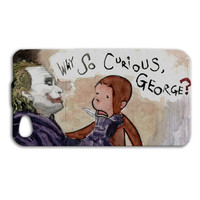 Joker Case Batman Case Funny Case Cute iPhone 4 Case iPhone 5 Case iPhone 4s Case iPhone 5s Case iPod 4 Case iPod 5 Case Curious Monkey Case