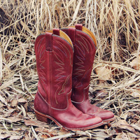 Vintage Feather Stitch Boots
