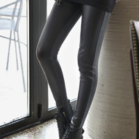 Leather leggings, cotton leggings, black leather leggings, women leggings, tights, legwear