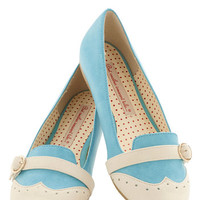 Sip of Liqueur Flat in Blueberry | Mod Retro Vintage Flats | ModCloth.com