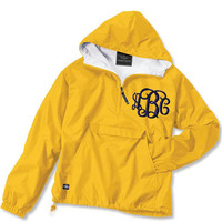 Monogrammed Pullover Jacket Unisex Lined Sorority Greek Monogram