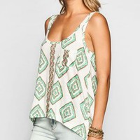 Billabong Sea Clash Womens Tank Ivory  In Sizes