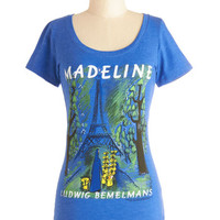 Out of Print Nifty Nerd Mid-length Short Sleeves Novel Tee in Madeline