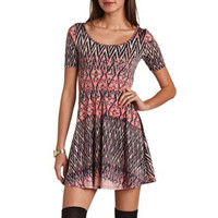 CRISSCROSS BACK SKATER DRESS