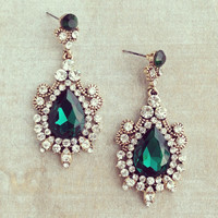 MUGHAL EMPRESS EMERALD EARRINGS