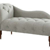 Francis Single-Arm Chaise, Moon Gray