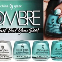 China Glaze Ombre - Wait Teal you See! - 4pc Set - 0.5oz / 15ml each