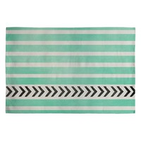 Deny Designs Mint Stripes And Arrows Woven Rug Mint One Size For Women 23687352301