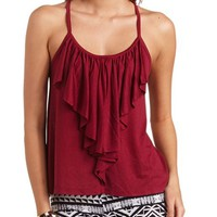 RUFFLE KNIT TANK TOP