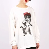 Be Mine Sweatshirt | Graphic Sweatshirts at Pink Ice