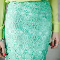 Hopeless Romantic Skirt (Mint)