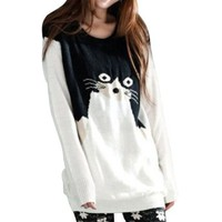 Little Hand Women's Cat Knitted Jumper Pullover Sweaters