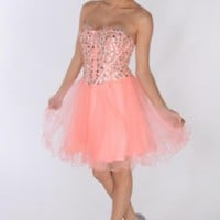 Coal Strapless Tutu Dress w/Sequin Corset Bodice