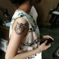 MagicPieces Temporary Tattoo Sticker-Tiger