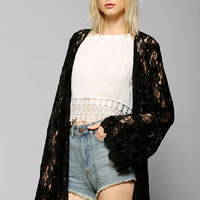 Love Sadie Lace Bell-Sleeve Kimono Jacket - Urban Outfitters