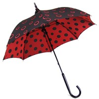 Pagoda Umbrella Red Polka Dot - Fashion Umbrellas