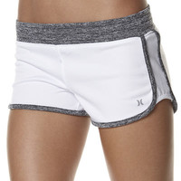SURFSTITCH - WOMENS - SHORTS - MINI SHORTS - HURLEY BANDIT BEACHRIDER WALKSHORT - WHITE