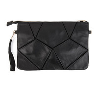 Black and White Mosaic Clutch