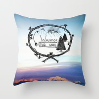 Wander This Way Throw Pillow by RDelean