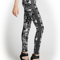 G by GUESS Women's Dionna Floral Leggings, JET BLACK MULTI (XS)