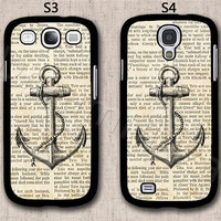 Vintage Anchor Samsung Galaxy S3 Case, Samsung Galaxy S4 Case, Hard Plastic Phone Cases, Please Choose Case Model