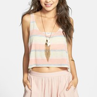 Liberty Love Stripe Crop Tank (Juniors) (Online Only) | Nordstrom