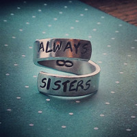 always sisters infinity spiral ring