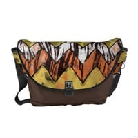 Chevron Safari Medium Messenger Bag