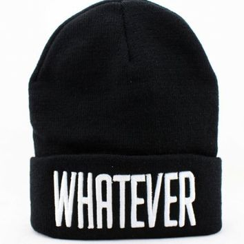 Whatever Hip Hop parody unisex Beanie Hat Black