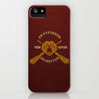 Harry potter Gryffindor quidditch team apple iPhone 3, 4 4s, 5 5s 5c, iPod & samsung galaxy s4 case cover