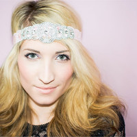 Audrey Pink , Great Gatsby, Flapper Headband, New Years Headband, Fashion statement