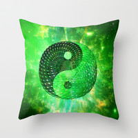 Electric body Meditation Throw Pillow by Nate4D7