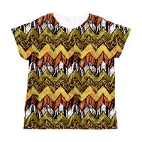 Chevron Safari Women's All Over Print T-Shirt
