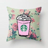 Starbucks Throw Pillow by hayimfabulous