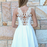 PRE ORDER - ALL EYES ON ME DRESS (Expected Delivery 19th March, 2014) , DRESSES, TOPS, BOTTOMS, JACKETS & JUMPERS, ACCESSORIES, 50% OFF SALE, PRE ORDER, NEW ARRIVALS, PLAYSUIT, COLOUR, GIFT VOUCHER,,White,LACE,CUT OUT,SLEEVELESS Australia, Queensland, Bris