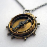 Clockwork Necklace TwentyFive Pendant by amechanicalmind on Etsy