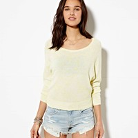 AE CROPPED RAGLAN SWEATER