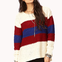 Marled Striped Boyfriend Sweater