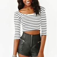Parallel Crop Top