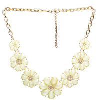 Flower Statement Necklace | Wet Seal