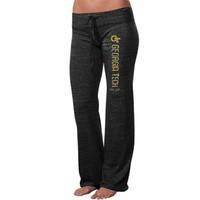Georgia Tech Yellow Jackets Ladies Comfort Stamp Tri-Blend Pants - Charcoal